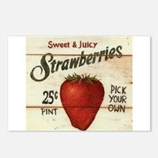 Pick Your Own Strawberries Postcards (Package of 8