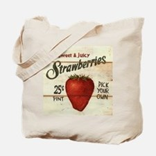 Pick Your Own Strawberries Tote Bag