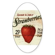 Pick Your Own Strawberries Decal