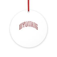 Wyoming Grunge Ornament (Round)