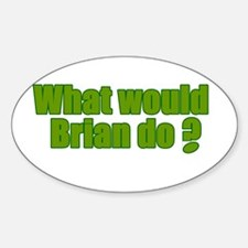 Would Brian Do Irish Rugby Humour Oval Decal