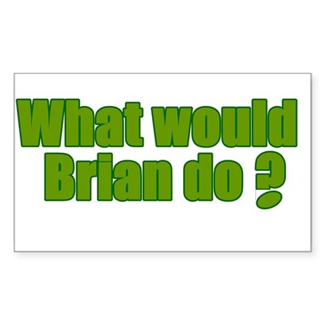 Would Brian Do Irish Rugby Humour Sticker (Rectang