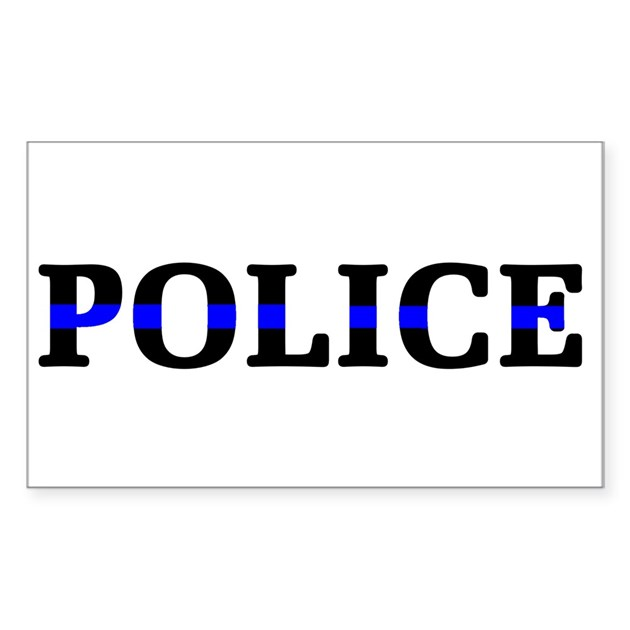 police blue line sticker rectangle by curiousmelange With kitchen colors with white cabinets with police blue line sticker