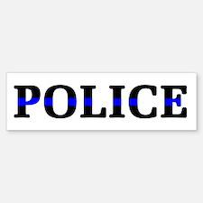 Police Blue Line Bumper Bumper Sticker