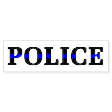 Police Blue Line Bumper Sticker