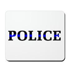 Police Blue Line Mousepad