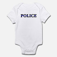 Police Blue Line Infant Bodysuit