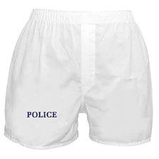 Police Blue Line Boxer Shorts