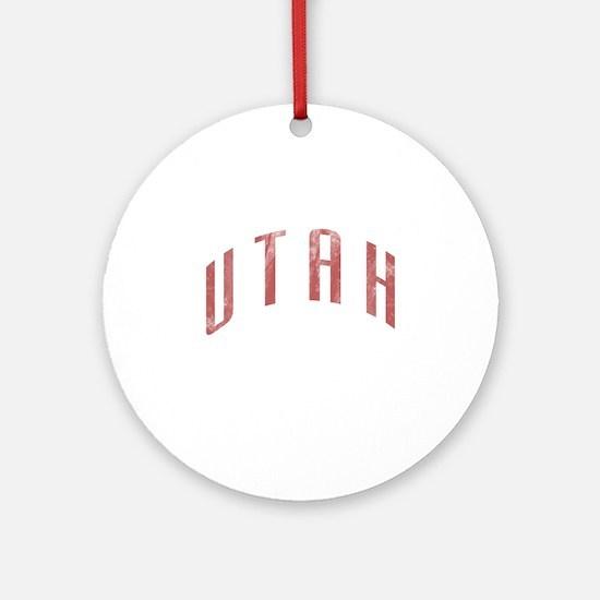 Utah Grunge Ornament (Round)