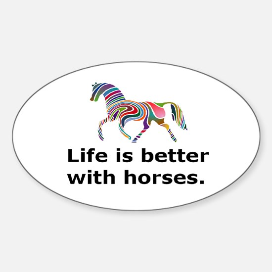 SMcolor_lifeisbetter Bumper Stickers