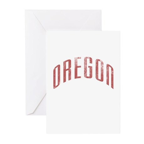 Oregon Grunge Greeting Cards (Pk of 20)