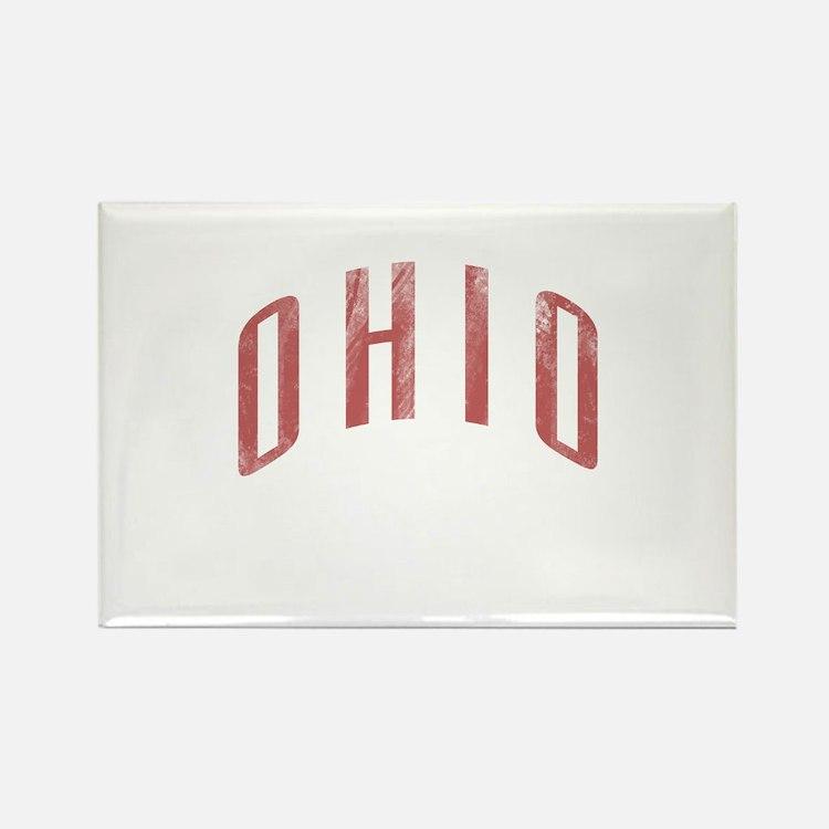 Ohio Grunge Rectangle Magnet