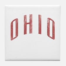 Ohio Grunge Tile Coaster