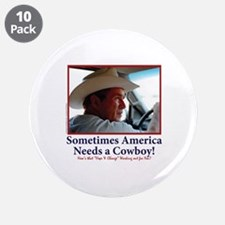 """George W Bush Miss me Yet 3.5"""" Button (10 pack)"""