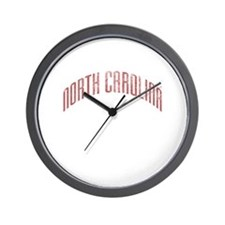 North Carolina Grunge Wall Clock