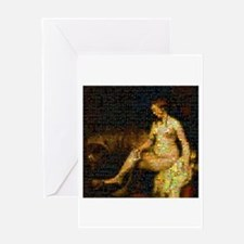 Photo Montage Bathsheba By Rembrandt Greeting Card
