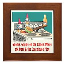 """""""Gnome on the Range"""" Framed Tile"""