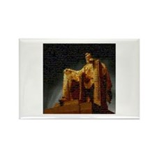 Lincoln Memorial Mosaic Rectangle Magnet