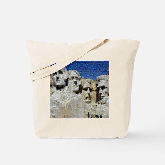 Mount Rushmore Photo Mosaic Tote Bag