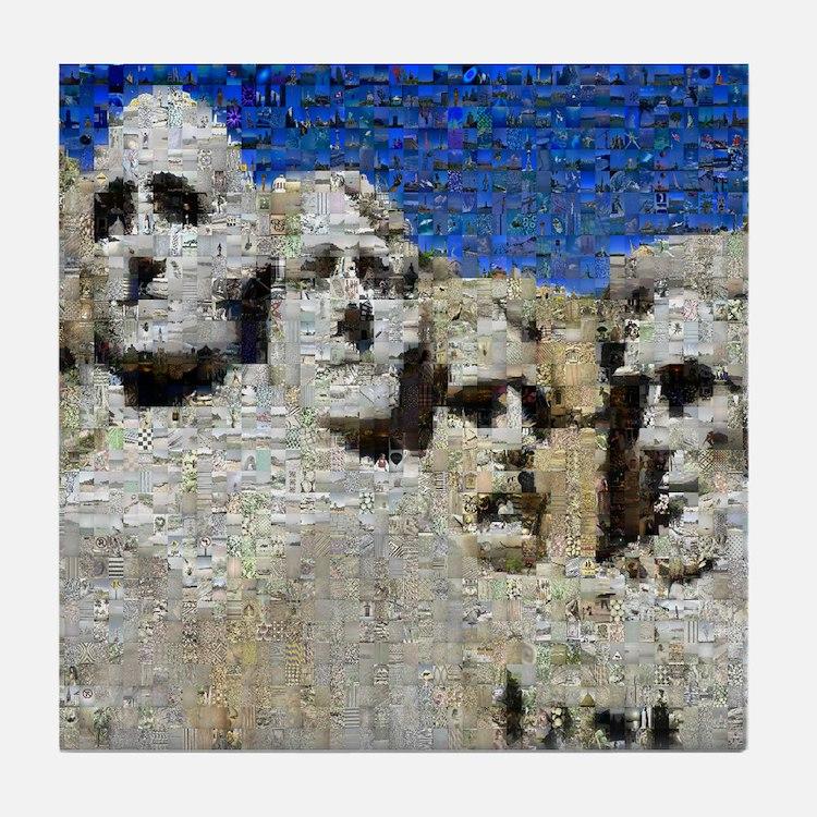 Mount Rushmore Photo Mosaic Tile Coaster