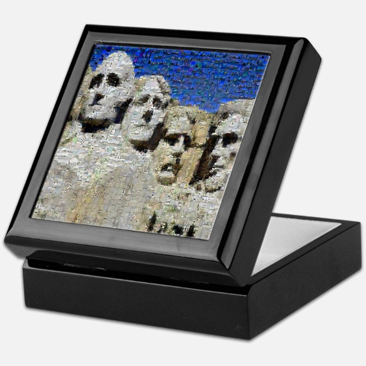 Mount Rushmore Photo Mosaic Keepsake Box