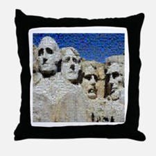 Mount Rushmore Photo Mosaic Throw Pillow