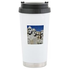 Mount Rushmore Photo Mosaic Travel Mug