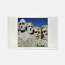 Mount Rushmore Photo Mosaic Rectangle Magnet