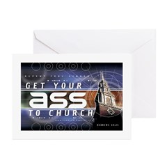 Get Your Ass to Church Greeting Cards (Pk of 10)