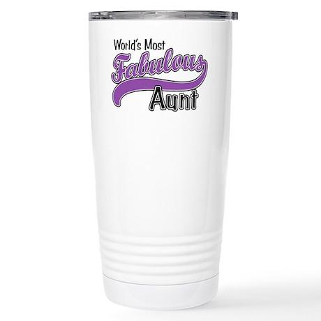 Fabulous Aunt Stainless Steel Travel Mug