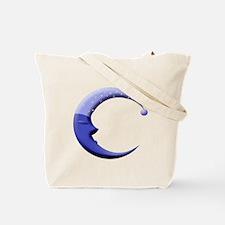 Santa Moon/sleepy Moon Tote Bag