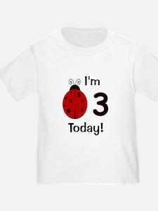 Ladybug I'm 3 Today! T