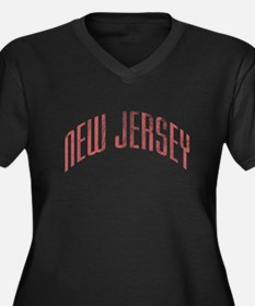 New Jersey Grunge Women's Plus Size V-Neck Dark T-