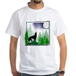 Howling Wolf White T-Shirt