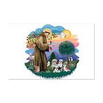 St Francis #2/ Shih Tzus (4) Mini Poster Print