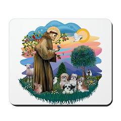 St Francis #2/ Shih Tzus (4) Mousepad