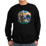 St Francis #2/ Shih Tzus (4) Sweatshirt (dark)
