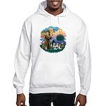 St Francis #2/ Shih Tzus (4) Hooded Sweatshirt