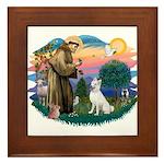 St Francis #2/ S Husky (W) Framed Tile