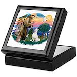 St Francis #2/ S Husky (W) Keepsake Box