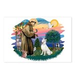 St Francis #2/ S Husky (W) Postcards (Package of 8
