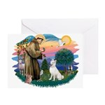 St Francis #2/ S Husky (W) Greeting Card