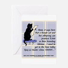 Funny Spay and neuter Greeting Card