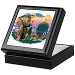 St Francis #2/ S Husky #2 Keepsake Box