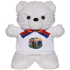 St Francis #2/ S Husky #2 Teddy Bear