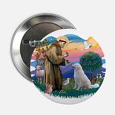 """St Francis #2/ Kuvacz 2.25"""" Button"""