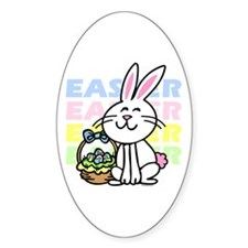 Cute Easter Bunny Decal