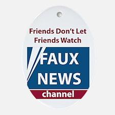 Fox (Faux) News Ornament (Oval)