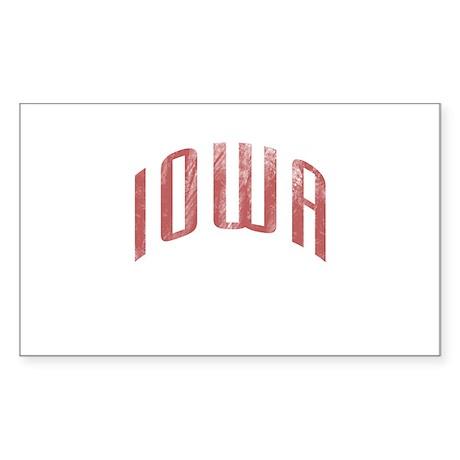 Iowa Grunge Sticker (Rectangle)