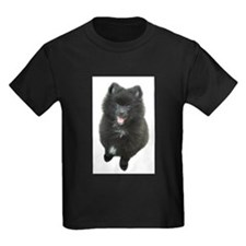 Adorable Black Pomeranian Puppy Dog T